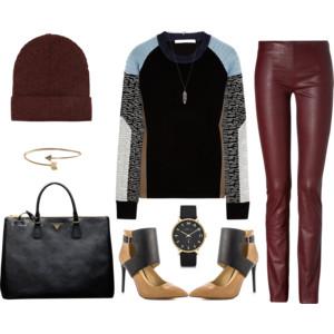 burgundy winter