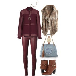 all wine fur vest